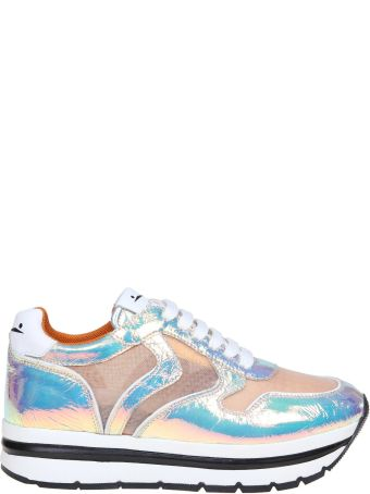Voile Blanche Voile Banks Sneakers May In Laminated And Tulle Leather