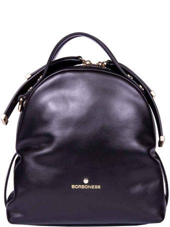 Borbonese Mini Leather Backpack