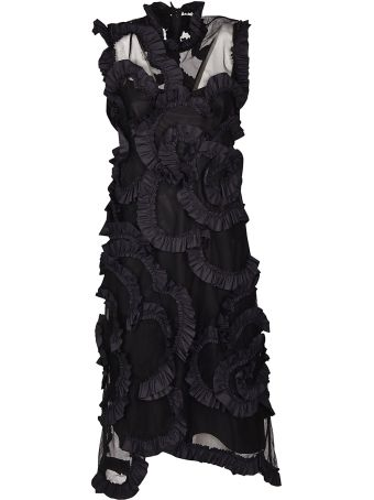 Moncler Genius Ruffle Detail Dress