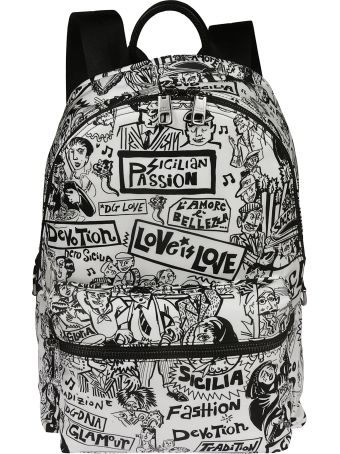 Dolce & Gabbana Graffiti Backpack