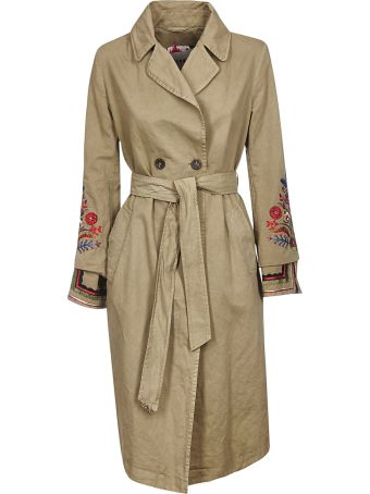 Bazar Deluxe Embroidered Trench Coat