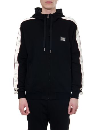 Dolce & Gabbana Black Cotton Zipped Sweatshirt