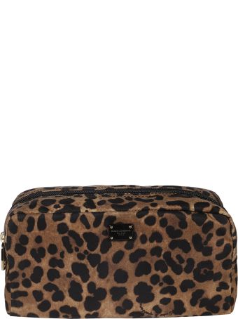Dolce & Gabbana Leopard Print Long Beauty Case