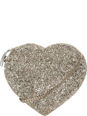 Anniel Heart Crossbody Gold Glitter Bag