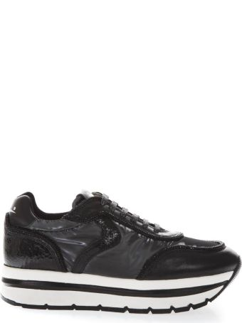 Voile Blanche May High Black Suede & Nylon Sneakers