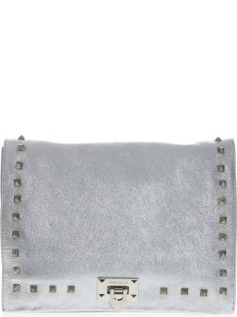 Marc Ellis Tote Hailee Silver Bag In Laminated Leather