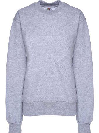 Cedric Charlier Double-pocket Cotton-blend Sweatshirt Fruit Of The Loom X Cedric Charlier