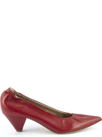 Aldo Castagna Red Leather Elise Pumps
