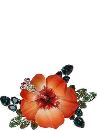 Dsquared2 Embellished Crystal Flower Ring