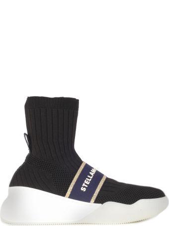 Stella McCartney Loop High Sneakers Elastan - Lurex Logo On The Front