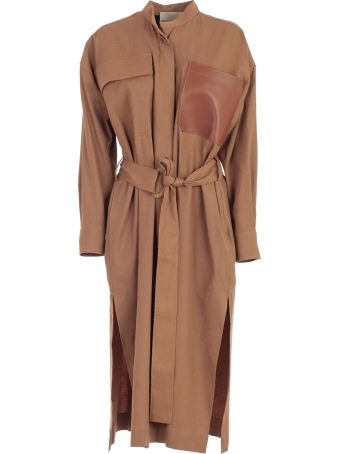 SEMICOUTURE Erika Cavallini Belted Dress