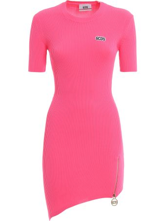 GCDS Ribbed Fitted Dress