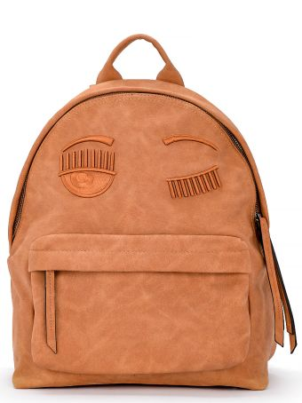 Chiara Ferragni Flirting Brown Eco Suede Backpack
