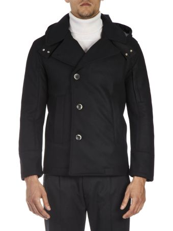 Low Brand Black Wool Blend Down Jacket