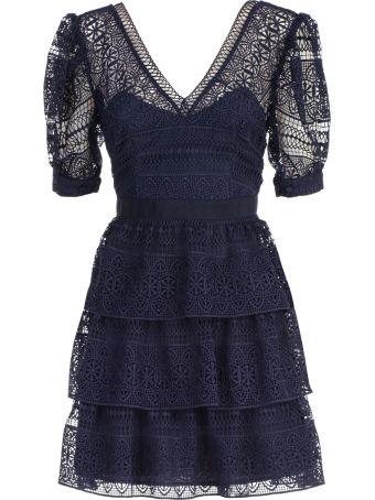 self-portrait Dress Mini Spiral Panel Lace