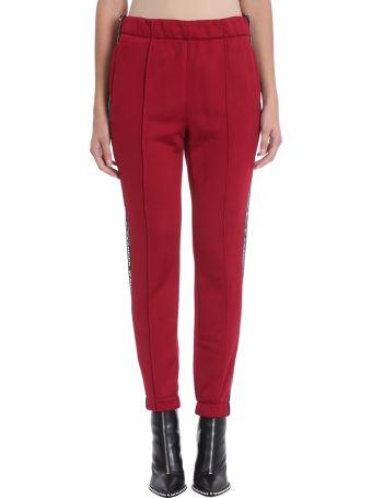 T by Alexander Wang Burgundy Cotton Blend Pants