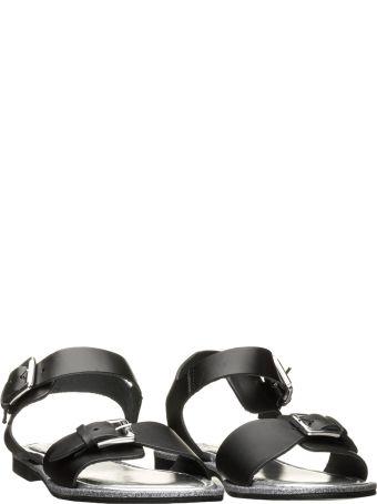 Pollini Pollini Black Buckle Sandals