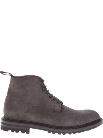 Green George Grey Suede Ankle Boots