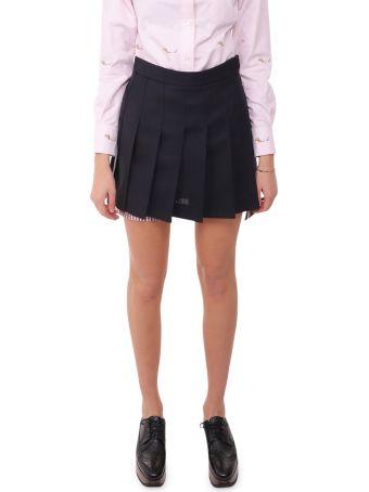 Thom Browne Navy Pleated Skirt