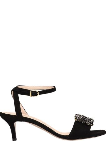 Marc Ellis Black Suede Sandals
