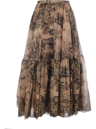 Christian Dior Dior Rodeo Print Skirt