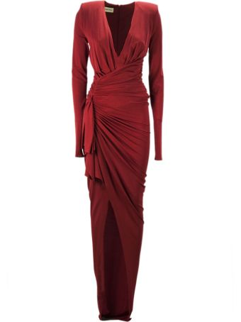 Alexandre Vauthier Red Stretch Jersey Long Dress