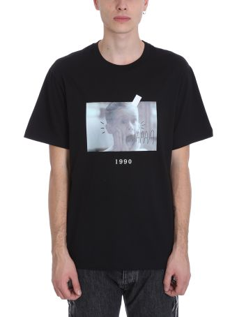 Throw Back Black Cotton T-shirt