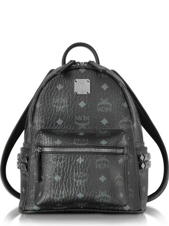 MCM Black Mini Stark Backpack