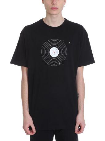 VETEMENTS Black Cotton Target T-shirt