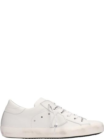 Philippe Model White Leather Paris Sneakers