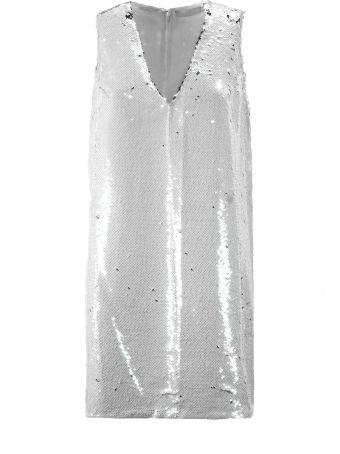 Amen Silver-tone Sequin Dress