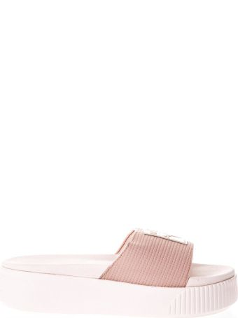Puma Select Pink Faux Leather Slipper
