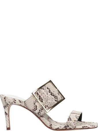 Schutz Sandals In White Leather