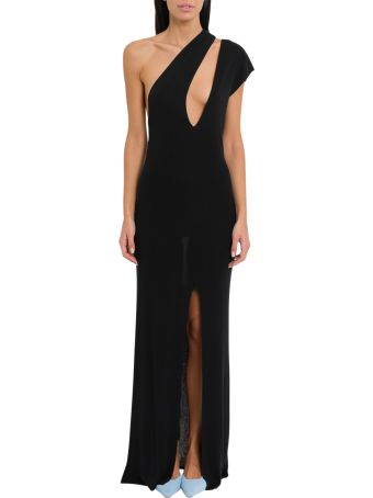 Jacquemus One-shoulder Long Dress With Cut Out Detail