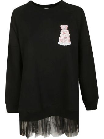 Moschino Ruffled Hem Long Sweatshirt