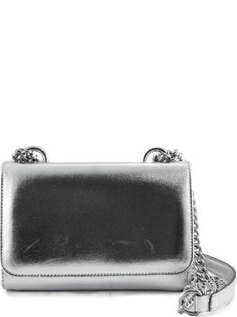 Roberto Festa Silver-tone Laminated Leather Clutch