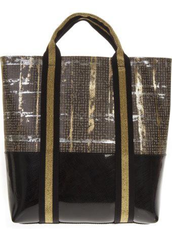 Gianni Chiarini Maxi Two Color Pvc Shopping Bag