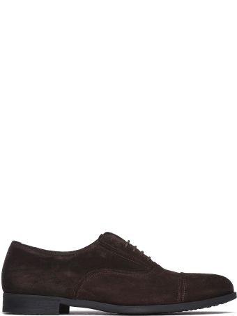 Fratelli Rossetti One Lace-up In Dark Brown Suede