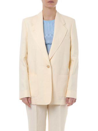 Acne Studios Jana Yellow Linen Jacket