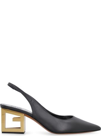 Givenchy Triangle Leather Slingback Pumps