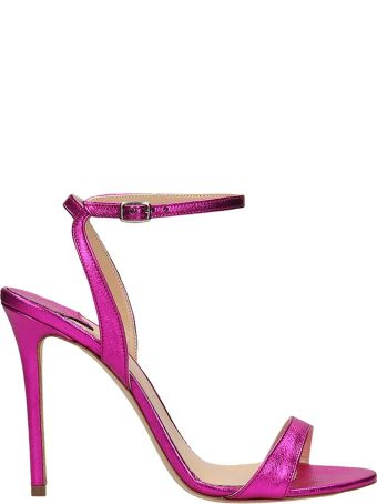 The Seller Pink Laminated Leather Sandals