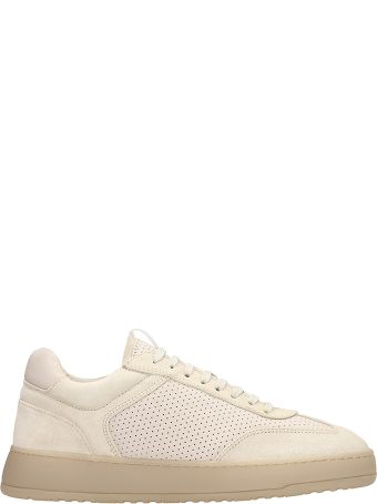 Etq Beige Suede And Leather Sneakers