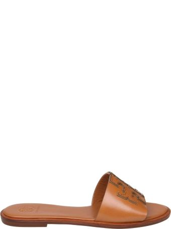 Tory Burch Ines Leather Sandals In Leather Color