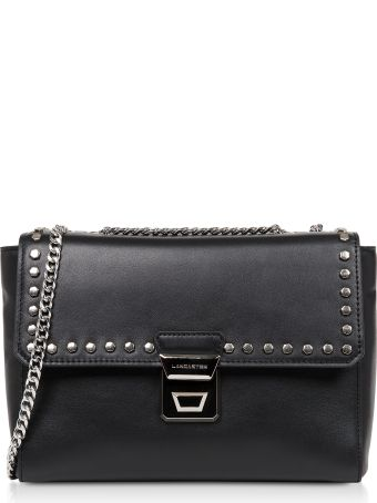 Lancaster Paris Gena Rock Studs Leather Crossbody Bag