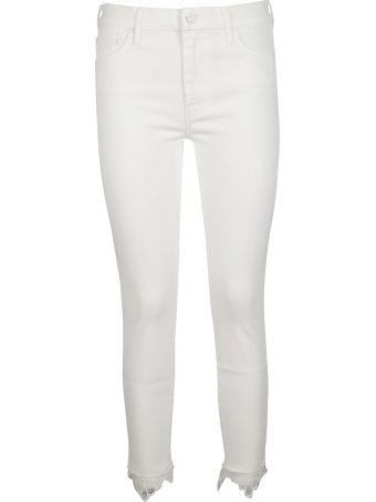 Mother Lace Detail Cropped Trousers