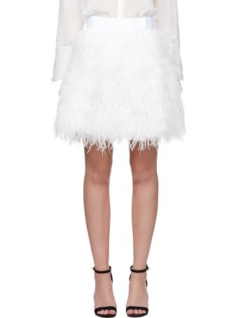 Alice + Olivia Fringed Mini Skirt