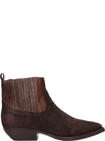 The Seller Brown Suede Texan Ankle Boots