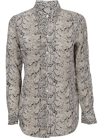 Equipment Snake Print Shirt