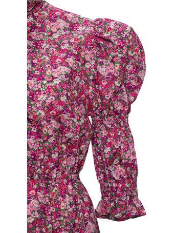 Philosophy di Lorenzo Serafini Floral Dress With Puffed Shoulders