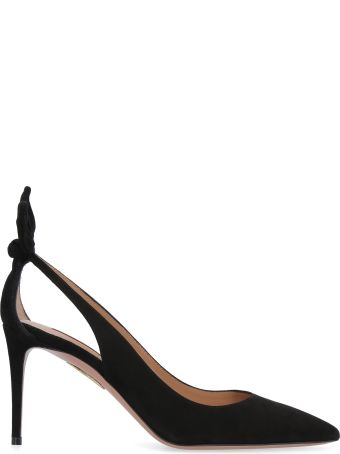 Aquazzura Deneuve Suede Ponty-toe Pumps
